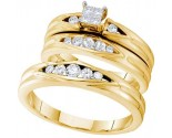 Three Piece Wedding Set 10K Yellow Gold 0.48 cts. GD-56462