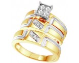Three Piece Wedding Set 10K Yellow Gold 0.28 cts. GD-56476