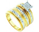 Three Piece Wedding Set 10K Yellow Gold 0.42 cts. GD-56478