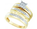 Three Piece Wedding Set 10K Two Tone Gold 0.36 cts. GD-56490
