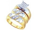 Three Piece Wedding Set 10K Yellow Gold 0.32 cts. GD-56494