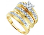 Three Piece Wedding Set 10K Two Tone Gold 0.34 cts. GD-56496