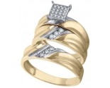 Three Piece Wedding Set 10K Yellow Gold 0.30 cts. GD-56498