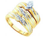 Three Piece Wedding Set 10K Yellow Gold 0.10 cts. GD-56504