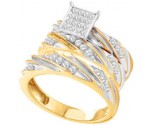 Three Piece Wedding Set 10K Yellow Gold 0.66 cts. GD-56510