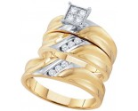 Three Piece Wedding Set 10K Yellow Gold 0.38 cts. GD-56633