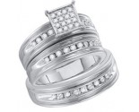 Three Piece Wedding Set 10K White Gold 0.38 cts. GD-56638