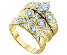 Three Piece Wedding Set 10K Yellow Gold 0.20 cts. GD-56639