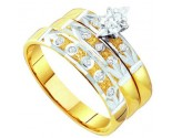 Three Piece Wedding Set 10K Yellow Gold 0.12 cts. GD-56641