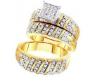 Three Piece Wedding Set 10K Yellow Gold 0.50 cts. GD-56643