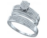 Three Piece Wedding Set 10K White Gold 0.40 cts. GD-63446