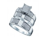 Three Piece Wedding Set 10K White Gold 0.35 cts. GD-63555