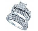 Three Piece Wedding Set 10K White Gold 0.40 cts. GD-63561