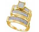 Three Piece Wedding Set 10K Yellow Gold 0.42 cts. GD-63572