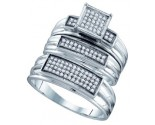 Three Piece Wedding Set 10K White Gold 0.31 cts. GD-63575