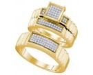 Three Piece Wedding Set 10K Yellow Gold 0.30 cts. GD-63576