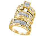 Three Piece Wedding Set 10K Yellow Gold 0.54 cts. GD-63578
