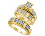 Three Piece Wedding Set 10K Yellow Gold 0.29 cts. GD-63580