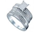 Three Piece Wedding Set 10K White Gold 0.42 cts. GD-63879