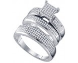 Three Piece Wedding Set 10K White Gold 0.63 cts. GD-63881
