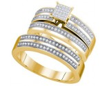 Three Piece Wedding Set 10K Yellow Gold 0.40 cts. GD-64961
