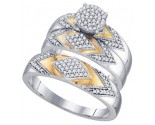 Three Piece Wedding Set 10K White Gold 0.40 cts. GD-68690