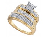 Three Piece Wedding Set 10K Yellow Gold 0.37 cts. GD-75800