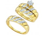 Three Piece Wedding Set 10K Yellow Gold 0.34 cts. GD-81509