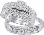 Three Piece Wedding Set 10K White Gold 0.50 cts. GD-92063