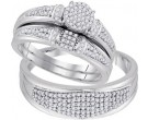 Three Piece Wedding Set 10K White Gold 0.50 cts. GD-92064