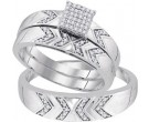 Three Piece Wedding Set 10K White Gold 0.25 cts. GD-92066