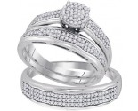 Three Piece Wedding Set 10K White Gold 0.50 cts. GD-92081