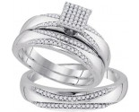 Three Piece Wedding Set 10K White Gold 0.33 cts. GD-92082