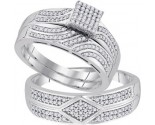 Three Piece Wedding Set 10K White Gold 0.50 cts. GD-92088