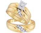 Three Piece Wedding Set 10K Yellow Gold 0.25 cts. GD-96725