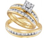 Three Piece Wedding Set 10K Yellow Gold 0.57 cts. GD-96728