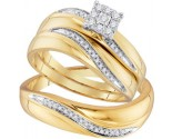 Three Piece Wedding Set 10K Yellow Gold 0.22 cts. GD-96730