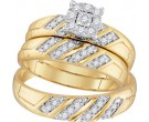 Three Piece Wedding Set 10K Yellow Gold 0.33 cts. GD-96732