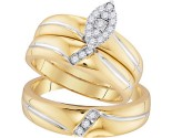 Three Piece Wedding Set 10K Yellow Gold 0.25 cts. GD-96733