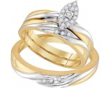 Three Piece Wedding Set 10K Yellow Gold 0.20 cts. GD-96737