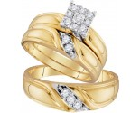 Three Piece Wedding Set 10K Yellow Gold 0.35 cts. GD-96738