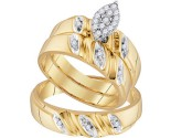 Three Piece Wedding Set 10K Yellow Gold 0.25 cts. GD-96739