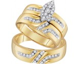 Three Piece Wedding Set 10K Yellow Gold 0.35 cts. GD-96741