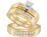 Three Piece Wedding Set 10K Yellow Gold 0.25 cts. GD-96743