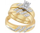 Three Piece Wedding Set 10K Yellow Gold 0.40 cts. GD-96744