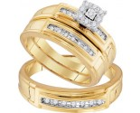 Three Piece Wedding Set 10K Yellow Gold 0.33 cts. GD-96745