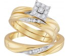 Three Piece Wedding Set 10K Yellow Gold 0.19 cts. GD-96746