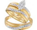 Three Piece Wedding Set 10K Yellow Gold 0.33 cts. GD-96749