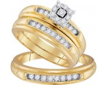 Three Piece Wedding Set 10K Yellow Gold 0.43 cts. GD-96751