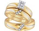 Three Piece Wedding Set 10K Yellow Gold 0.21 cts. GD-96752